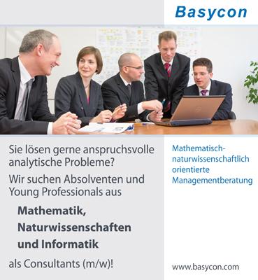 Karriere bei Basycon - exzellente Mitarbeiter sind unser Erfolg